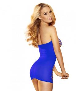 שמלת רשת מיני כחולה