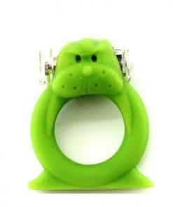 טבעת רטט הכלב הירוק