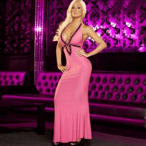 שמלת ערב סקסית ורודה
