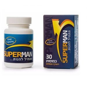 תחליף ויאגרה סופרמן - 30 כמוסות